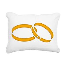 Wedding Rings - Marriage Rectangular Canvas Pillow