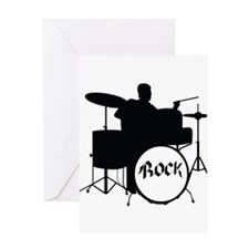 Rock Drummer - Musician Greeting Cards