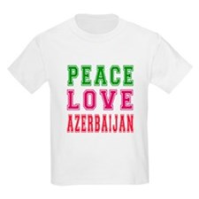 Peace Love Azerbaijan T-Shirt