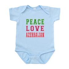 Peace Love Azerbaijan Infant Bodysuit