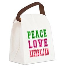 Peace Love Azerbaijan Canvas Lunch Bag