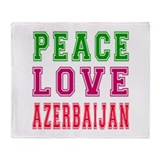 Peace Love Azerbaijan Throw Blanket