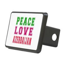 Peace Love Azerbaijan Hitch Cover
