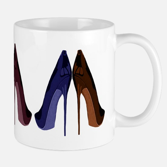 Pretty Shoes All In A Row Mugs