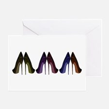 Pretty Shoes All In A Row Greeting Cards