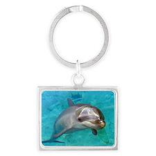 Dolphin Dip Landscape Keychain