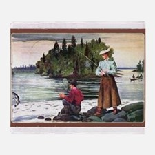 Fly Fishing Throw Blanket