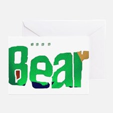 BEAR with woof Greeting Cards (Pk of 10)
