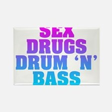 Sex Drugs Drum 'N' Bass Rectangle Magnet