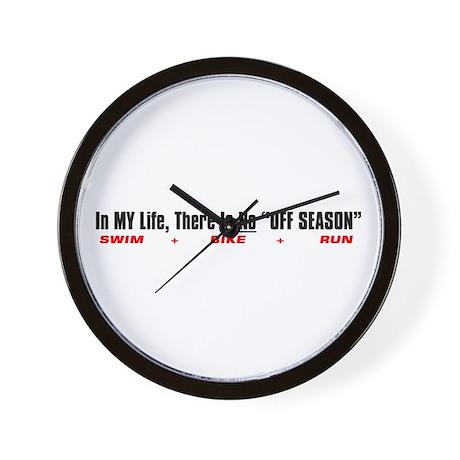 """""""No OFF Season"""" Wall Clock"""