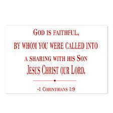 1 Corinthians 1:9 Postcards (Package of 8)