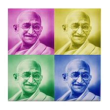 Mahatma Gandhi Hindu Tile Coaster