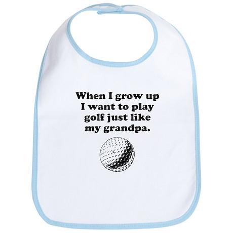 Play Golf Like My Grandpa Bib