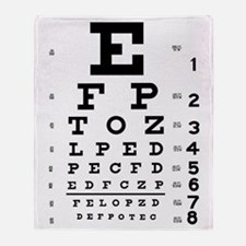 Eye Test Chart Throw Blanket