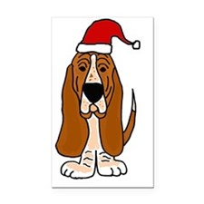 Funy Basset Hound Christmas A Rectangle Car Magnet