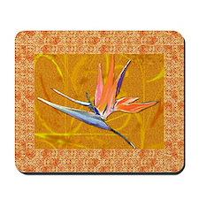 Gold Bird of Paradise Mousepad