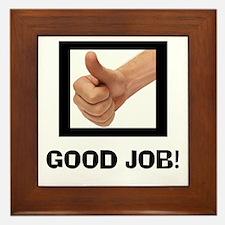 GOOD JOB Framed Tile