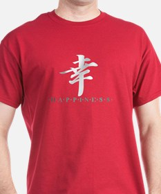 "Red ""Happiness"" (kanji character) T-Shirt"