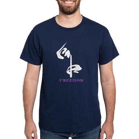 "Navy ""Freedom"" (kanji character) T-Shirt"