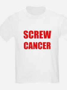 Screw Cancer on a Kids T-Shirt