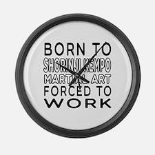 Born To Silat Martial Art Large Wall Clock