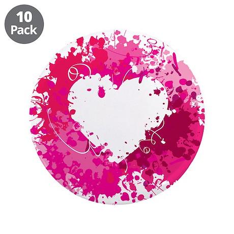 "Splatter Heart - Valentines Day 3.5"" Button (10 pa"