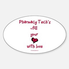 reFill your heart PT Oval Decal