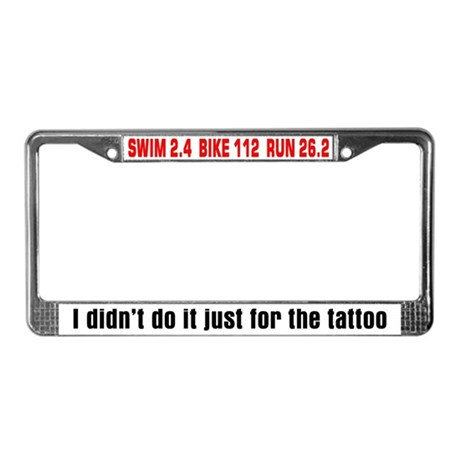 """Tattoo"" License Plate Frame"