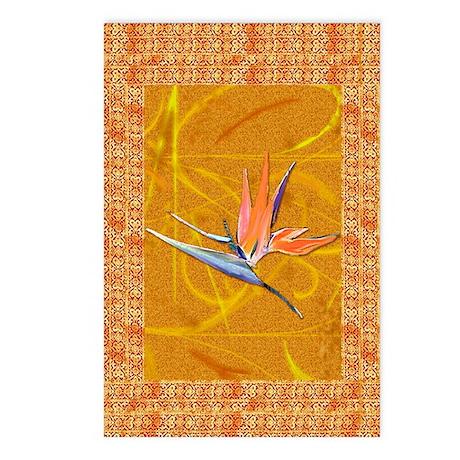 Gold Bird of Paradise Postcards
