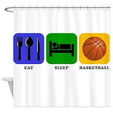 Eat Sleep Basketball Shower Curtain