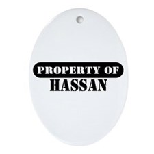 Property of Hassan Oval Ornament