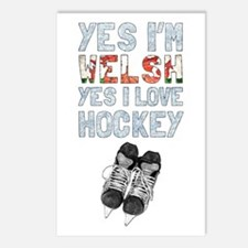 Yes Im Welsh, Yes I Love Hockey Postcards (Package