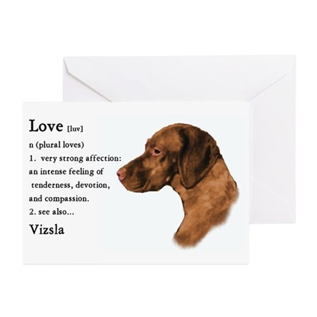 Vizsla Love Is Greeting Cards (Pk of 10)