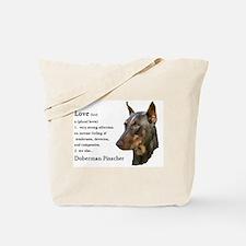 Doberman Pinscher Gifts Tote Bag