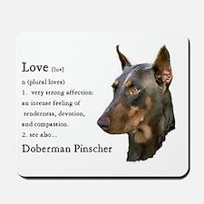 Doberman Pinscher Gifts Mousepad
