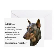 Doberman Pinscher Gifts Greeting Cards (Package of