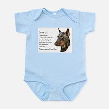 Doberman Pinscher Gifts Infant Bodysuit
