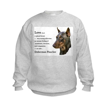 Doberman Pinscher Gifts Kids Sweatshirt
