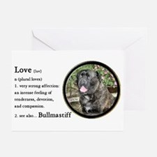 Bullmastiff Love Is Greeting Cards (Pk of 10)