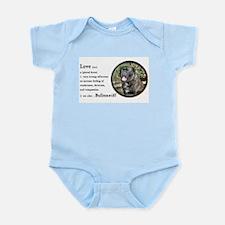 Bullmastiff Love Is Infant Bodysuit