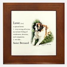 Saint Bernard Gifts Framed Tile