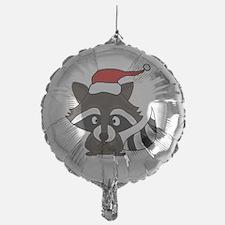 Funny Raccoon Christmas Art Balloon