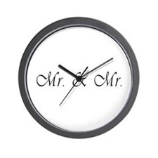Mr. & Mr. - Gay Marriage Wall Clock