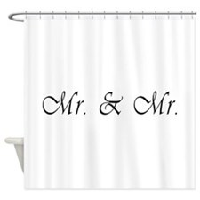 Mr. & Mr. - Gay Marriage Shower Curtain