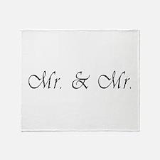 Mr. & Mr. - Gay Marriage Throw Blanket