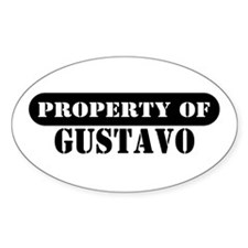 Property of Gustavo Oval Decal
