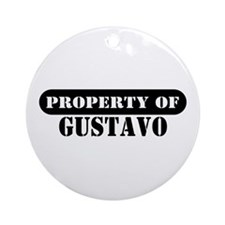 Property of Gustavo Ornament (Round)