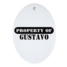Property of Gustavo Oval Ornament