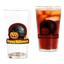 Cute Happy pumpkin Drinking Glass