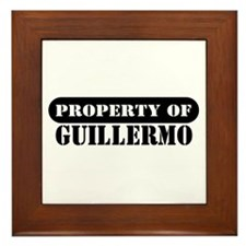 Property of Guillermo Framed Tile